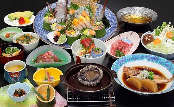 「一宮シーサイドホテル 団体夕食メニュー」の画像検索結果